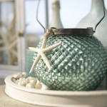 Spring Fab Finds - Blue Mercury Glass Lantern - Pottery Barn