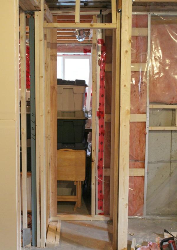 Basement Progress- Framing for Closet