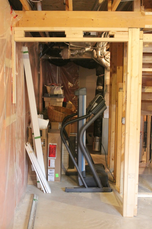 Basement Progress- Framing for Storage Room