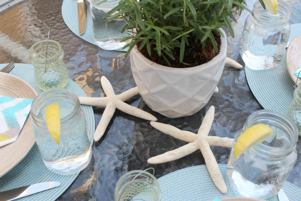How to set the table for casual summer entertaining outdoors.