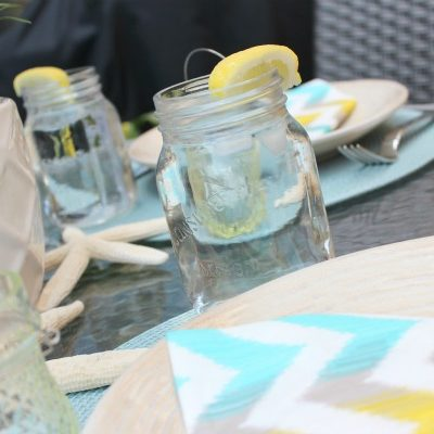Casual Summer Entertaining with Mason Jars