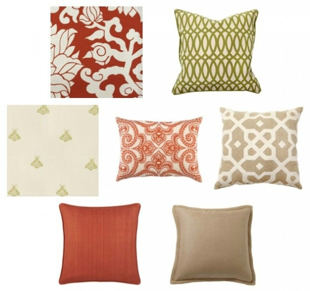 Sunroom Pillow Fabrics - Tips for getting the right mix of pillows