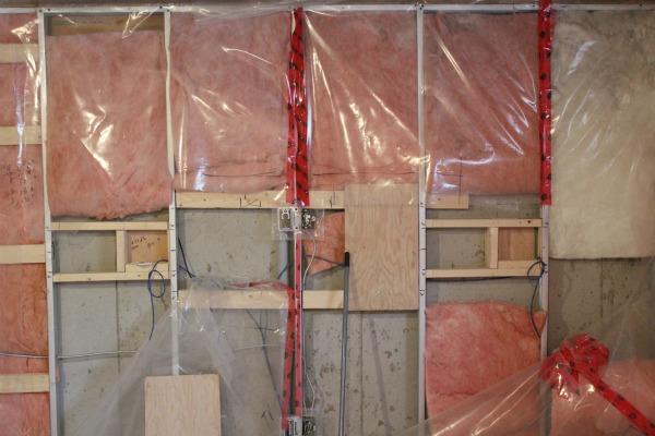 basement progress framing and electrical satori design