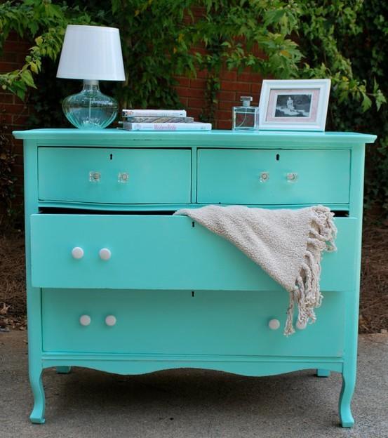 Tiffany Blue Painted Dresser
