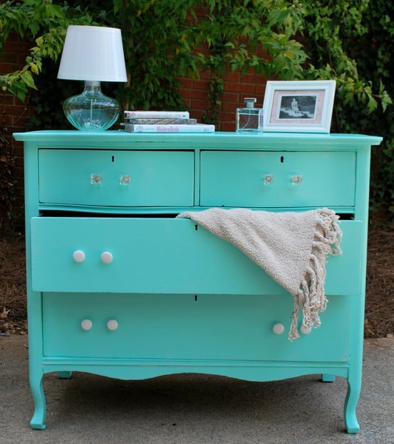 Tiffany Blue Painted Dresser