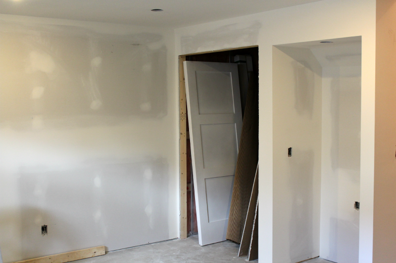 Drywall Stage of Basement Renovation- Time to Pick Paint Colors!