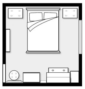 Small Bedroom Space Plan / Layout