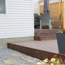 Tiered Deck with Cedar Privacy Partition