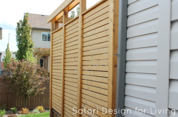 Deck with Cedar Privacy Partition - Satori Design for Living
