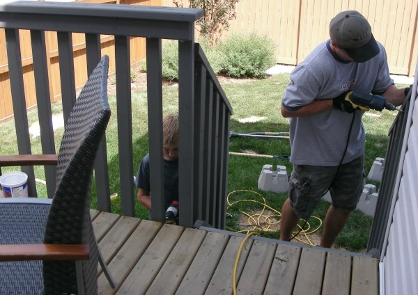 Deck Makeover- How to add onto an existing deck plus creating a privacy partition.
