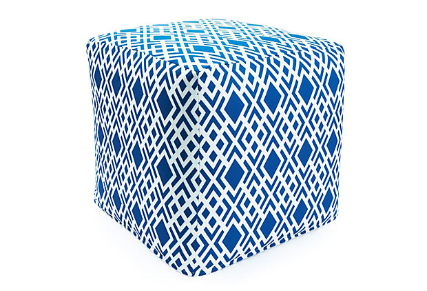 Geometric Outdoor Pouf - One King's Lane