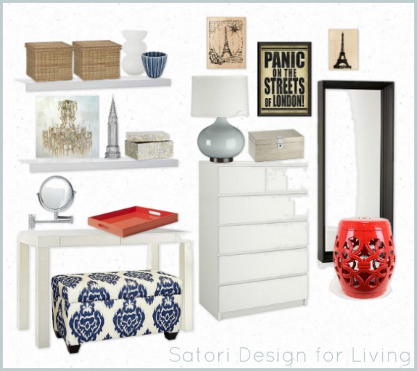 Small Bedroom Design - Mood Board by Satori Design for Living