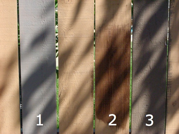 How to test colors before staining your fence.