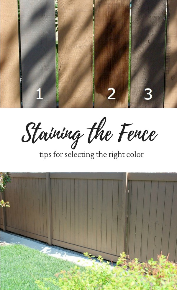 Do you have a hideous orange fence? I couldn't stand ours and transformed it using a new grey-brown stain color. Come see how it looks now and get tips for selecting the right stain color.