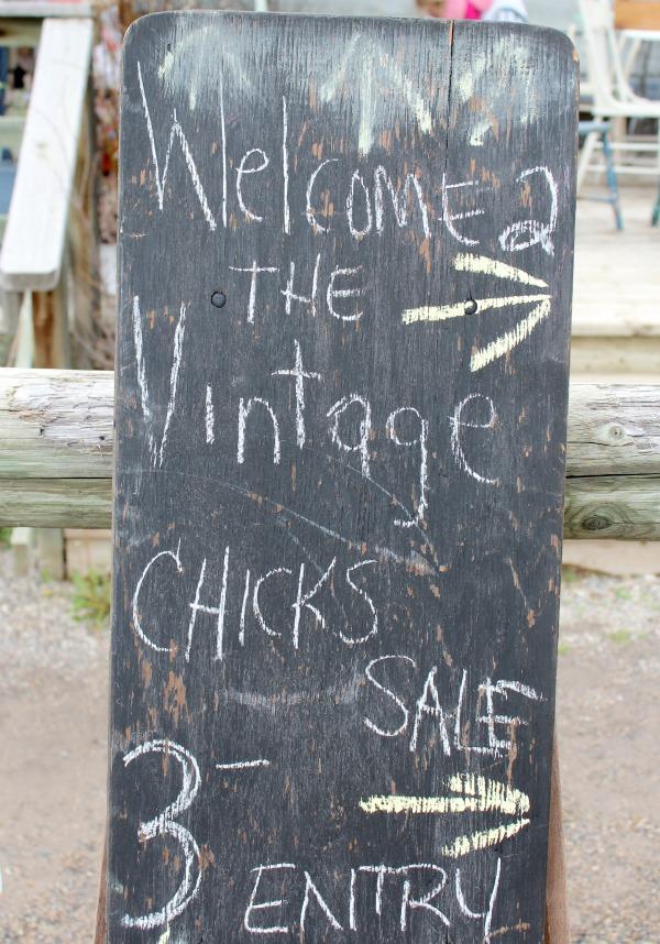 The Vintage Chicks Sale- Chalkboard Sign