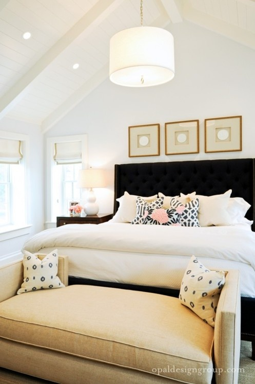 styling a bed- bedroom by Opal Design Group
