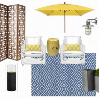 Zen Oasis Outdoor Room Mood Board for the Designer Challenge Hosted by Satori Design for Living