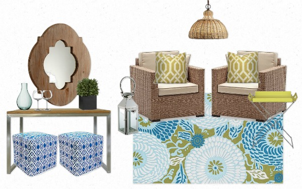 Morrocan Lounge Style Outdoor Room Mood Board for the Designer Challenge hosted by Satori Design for Living