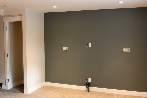 Our Basement Renovation- Update on paint colors, snack bar cabinets and hardware