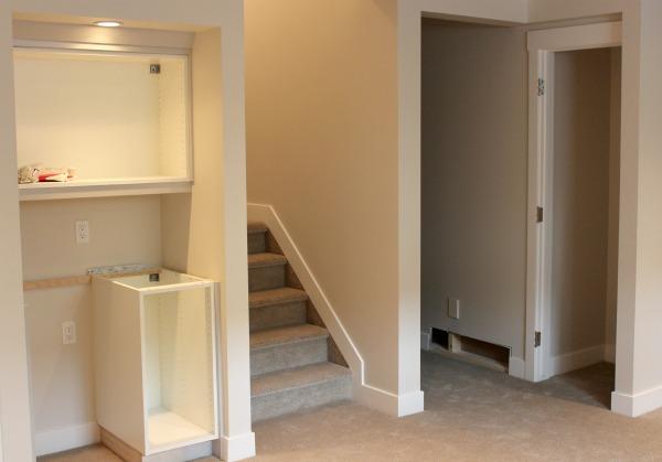 Basement Renovation Update- Snack Bar Details (including cabinets and hardware).