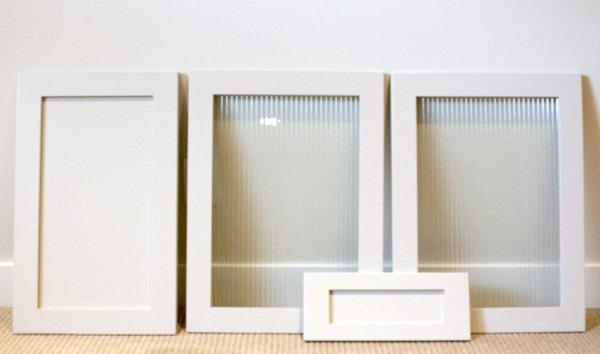 Basement Renovatin Update- Custom-made Spray Lacquered Grey Cabinet Doors
