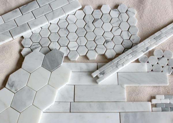 Marble Backsplash Tile Options for Our Basement Snack Bar