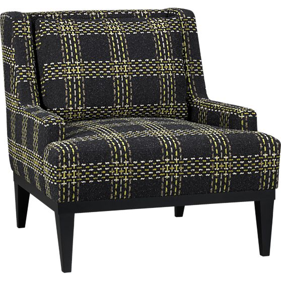Donegal Plaid Chair in Midnight