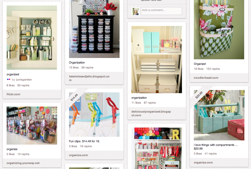 I Heart Organizing on Pinterest