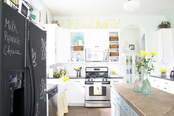 Painted Kitchen- The Handmade Home- Benjamin Moore's Whispering Springs