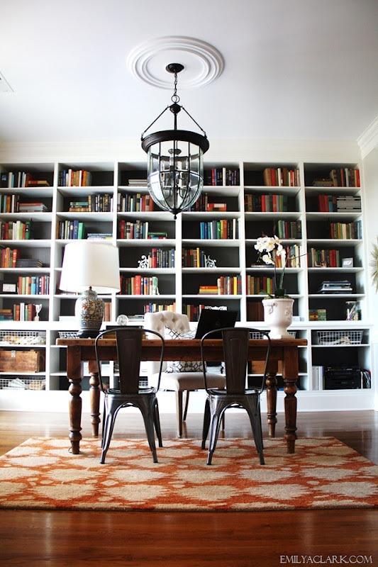 Emily A. Clark's Office Paint Bookcase Paint Color