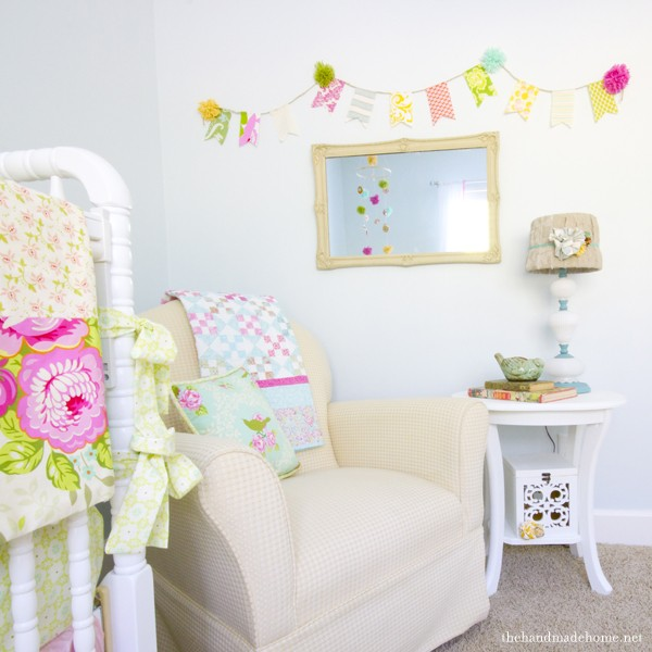 Nursery Painted In Benjamin Moore Whispering Spring The Handmade Home