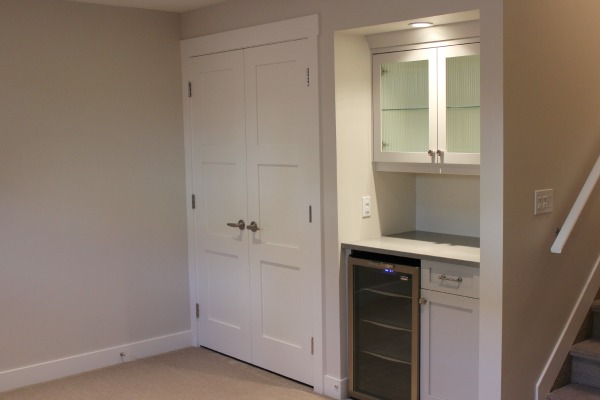 Basement Remodel - Basement Storage Room - Double Shaker Style Doors