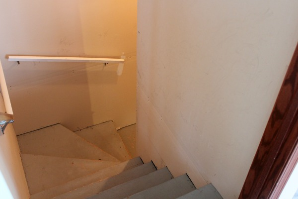 Basement Stairwell Before