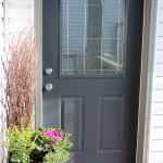 Front Door Paint- Benjamin Moore Wrought Iron 2121-10