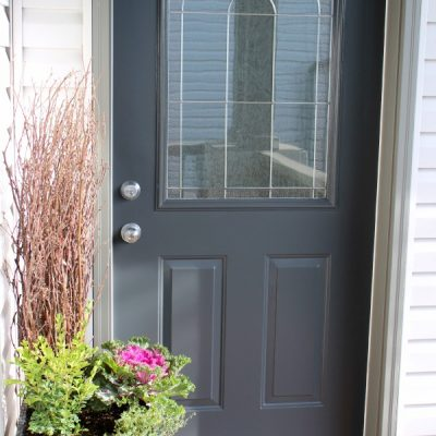 Beautiful Front Door Paint Colors - Benjamin Moore Wrought Iron 2121-10 - Satori Design for Living