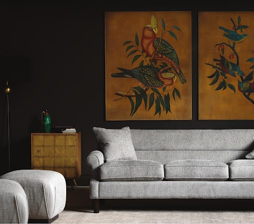 is playful yet sophisticated enough for a more formal living room