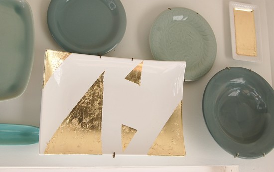 DIY Gold Leaf Plates - Nesting Place