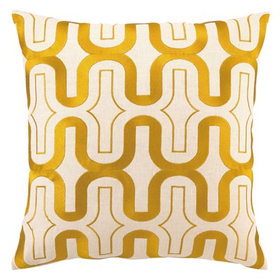 DL Rhein Honeycomb Marigold Pillow