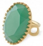 Large Green Stone & Gold Cocktail Ring - Stella & Dot
