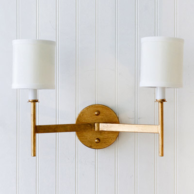 Worlds Away Randolph Gold Leaf Sconce