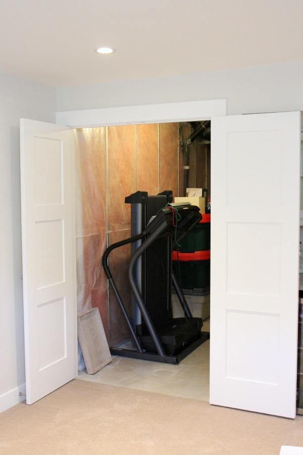 Shaker Style Closet Doors Storage Room Entrance   Satori Design for Living