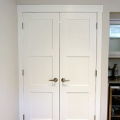 Storage Room Double Shaker Door Entrance - Satori Design for Living