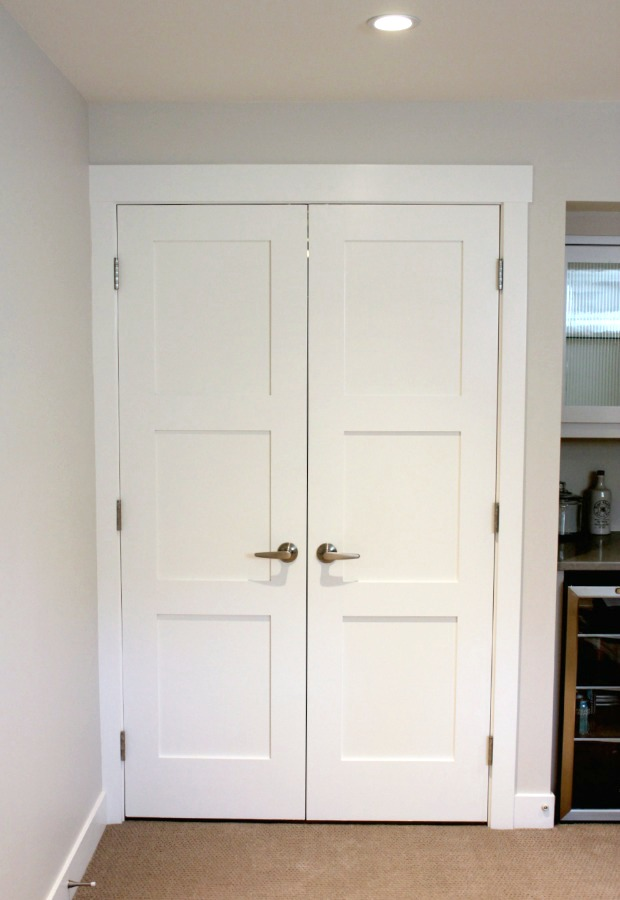 Storage Room Double Shaker Door Entrance
