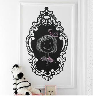 Rococo Chalkboard Art for Kid's Room