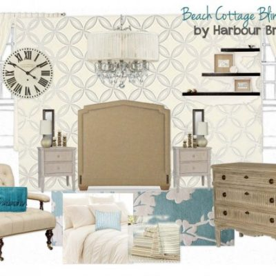 Beach Cottage Bling Bedroom Mood Board for the Designer Challenge on SatoriDesignforLiving.com