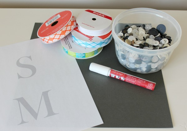 Button Gift Tag Supplies