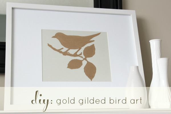 DIY Gold Gilded Bird Art - Make Your Own Art - Tutorial at Satori Design for Living