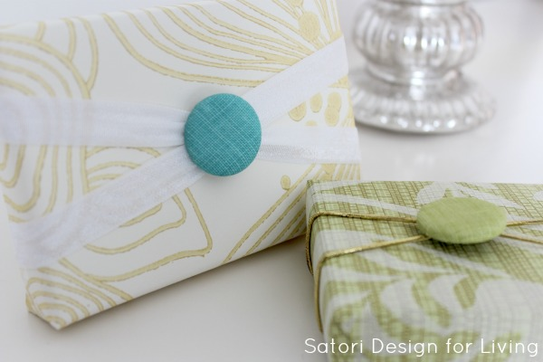 Projects to do with fabric covered buttons - gift embellishments