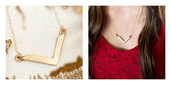 Gold Chevron Necklace by Lisa Leonard Designs