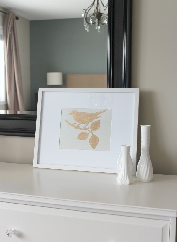 Gold Gilded Bird Art - Satori Design for Living